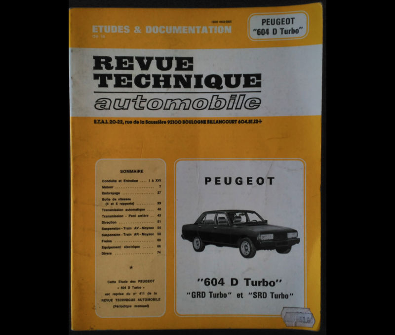 RTA Peugeot 604 GRD Turbo SRD Turbo