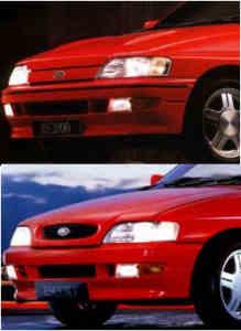 Ford Escort MK5 différences de calandre
