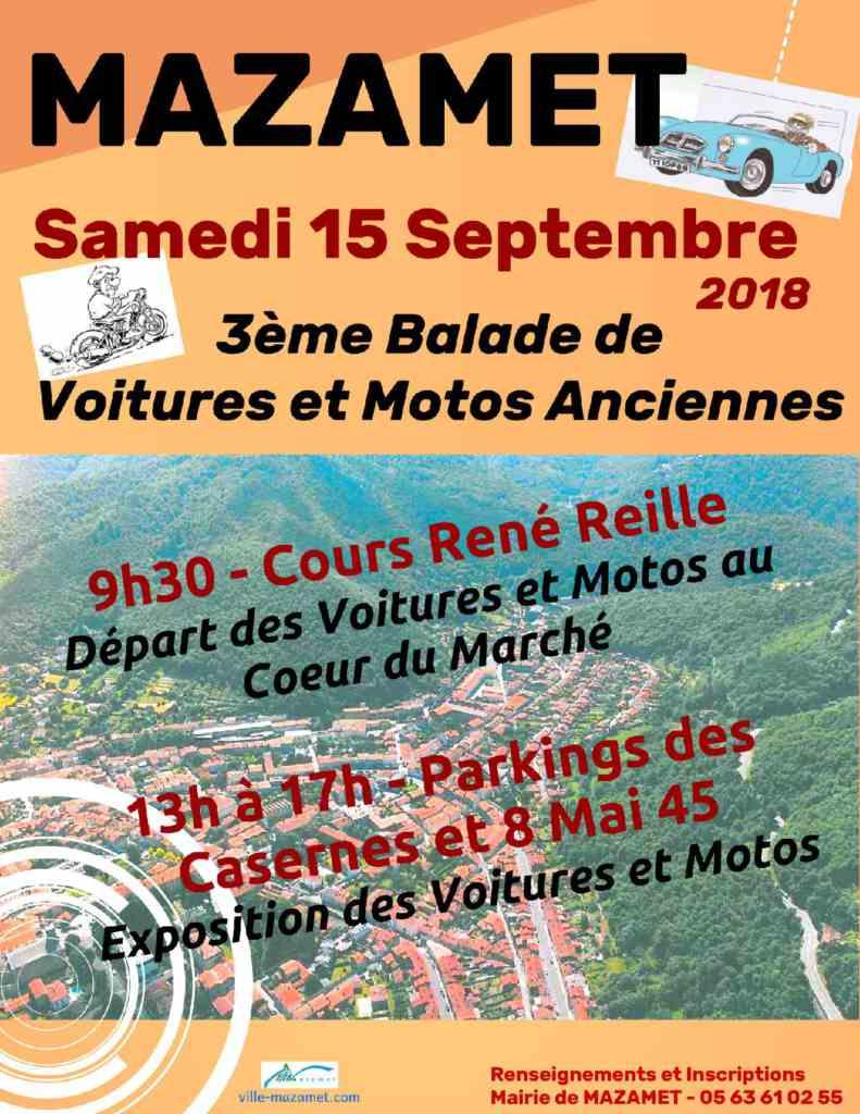 3ème Balade de voitures et motos anciennes à Mazamet (81)