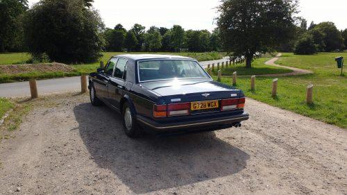 Bentley Turbo R vue arrière