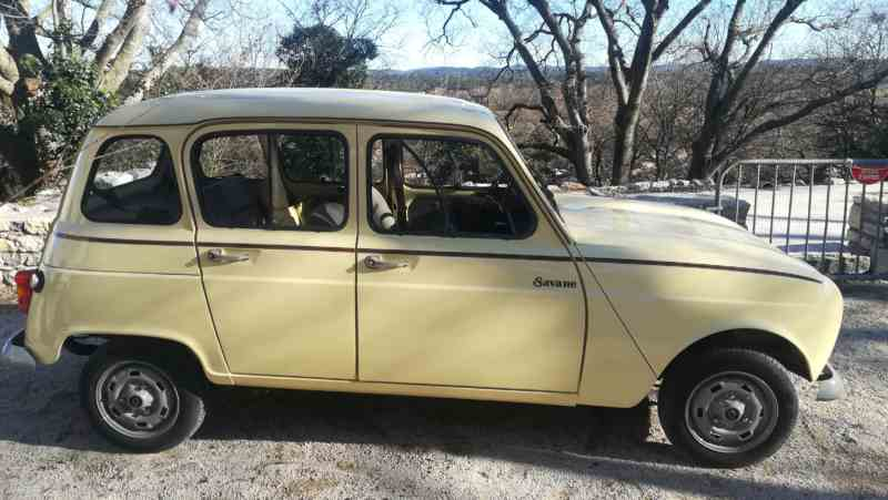 Vente R 4L Savane Collector (4CV)/ Sale Renault 4 L « Savane » (4HP)
